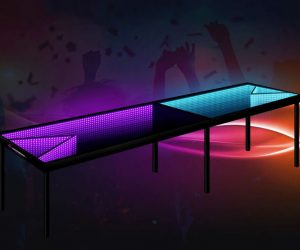 Infinity LED Beer Pong Tables – These tables have illusions to keep your guests entertained all night. Special mirrors are used that bounce in the light to create a trippy