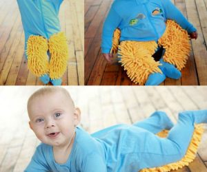 Baby Mop Onesie – Why are you cleaning the floor when your baby could be doing all the work for you?