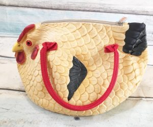 The hen bag is a purse that looks just like a chicken! – Unfortunately it doesn't lay eggs.