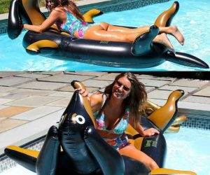 Wiener Dog Pool Float – This adorable Dachshund float comes with a cupholder is made with Durable 7P-Free PVC and holds up to 300 pounds.