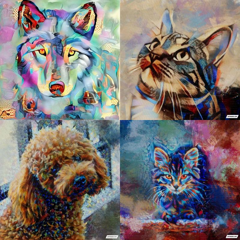 custom ai pet paintings