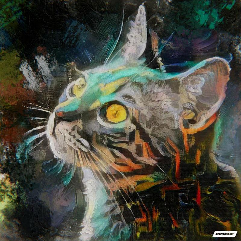 custom cat ai photo