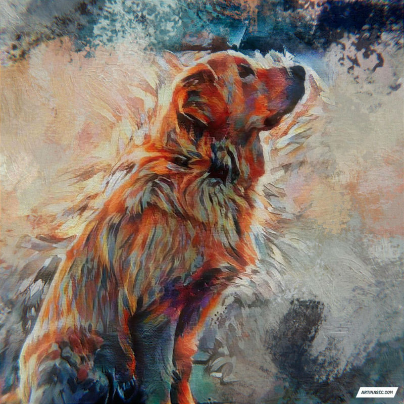 dog custom art