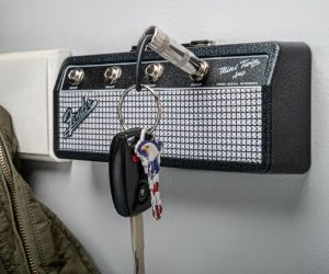 The Fender Mini Twin Jack Rack is every guitar player's dream key holder!