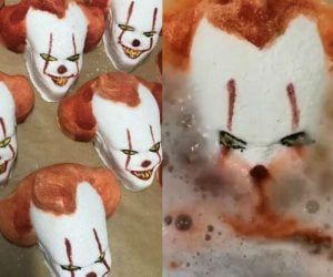 Pennywise Bath Bombs are here just in time for Halloween. If you weren't already creeped out enough by Pennywise I'm sure his floating and then dissolving head in your bathtub