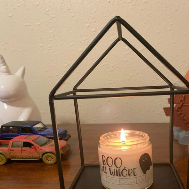 boo you whore candle