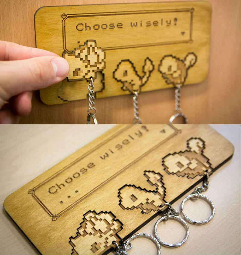 choose wisely pokemon key holder