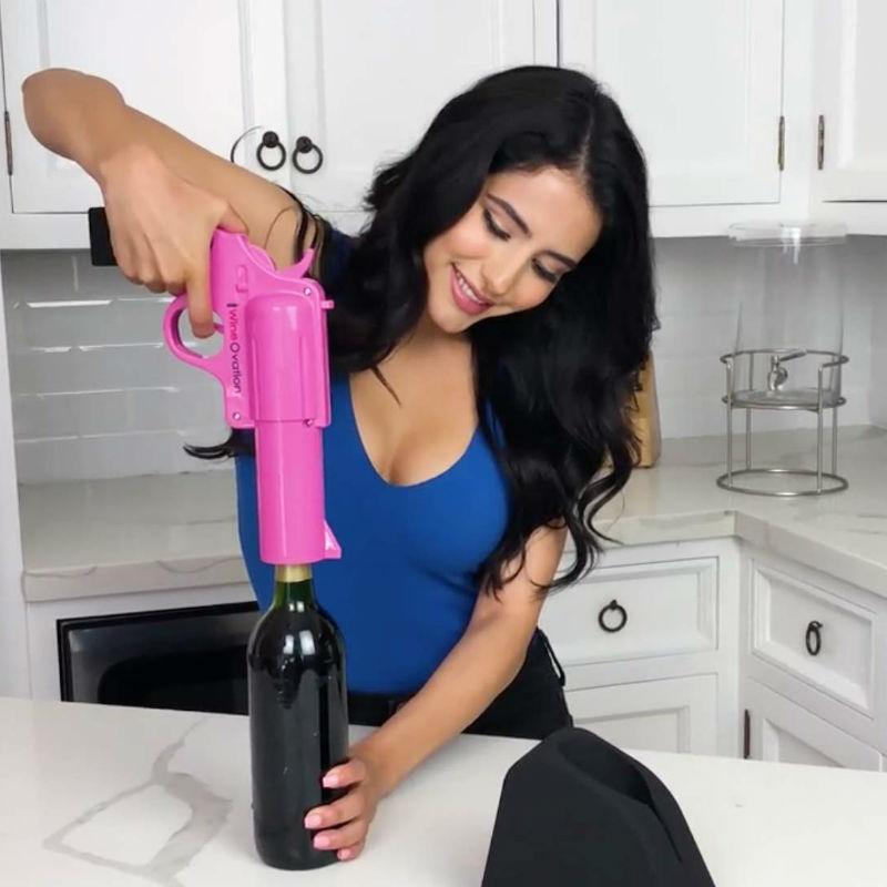 wine ovation gun wine bottle opener
