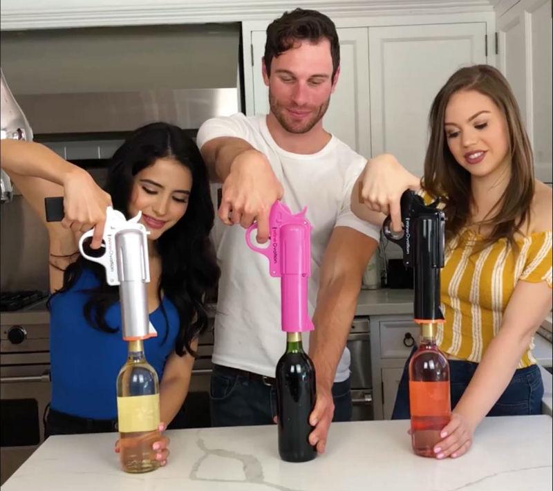 wine ovation wine gun bottle opener