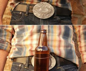 The BevBuckle gives a whole new meaning to hold my drink.Voted this year's most viral product by free hands everywhere, BevBuckle is the world's first retractable belt buckle that holds