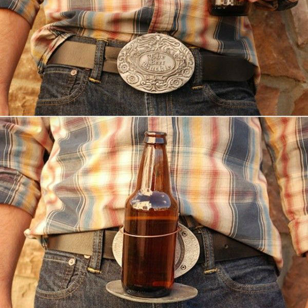 bev buckle belt drink holder
