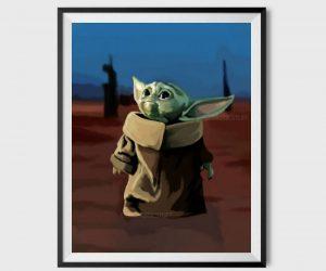 Baby Yoda Inspired Poster –
