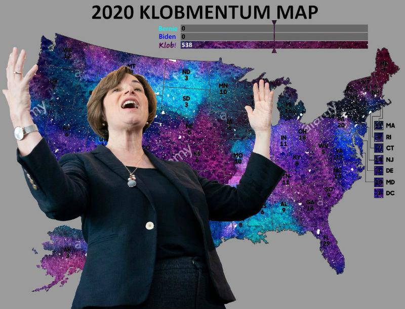 2020 klobmentum map amy klobuchar meme