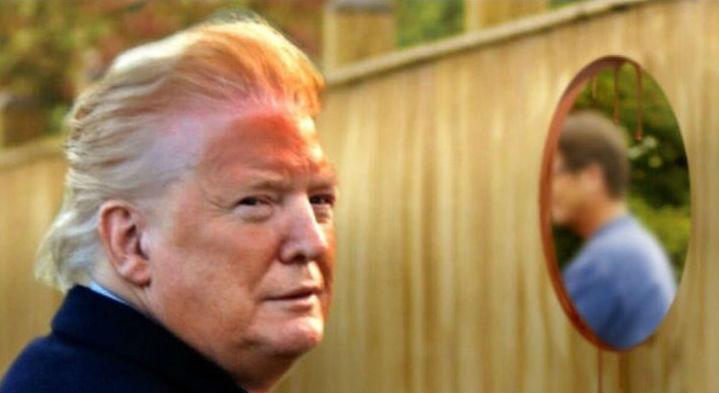 trump orange face memes