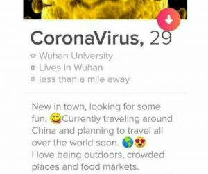 Corona Virus Tinder Meme
