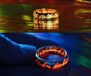 This Lord of the Rings One Ring actually glows in the dark… My precious!