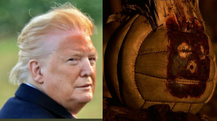 trump orange face wilson