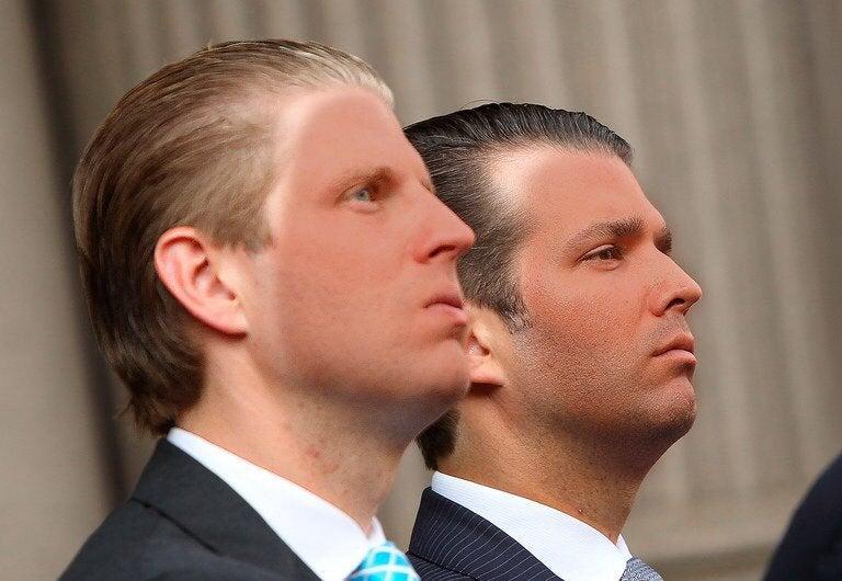 trump sons orange face