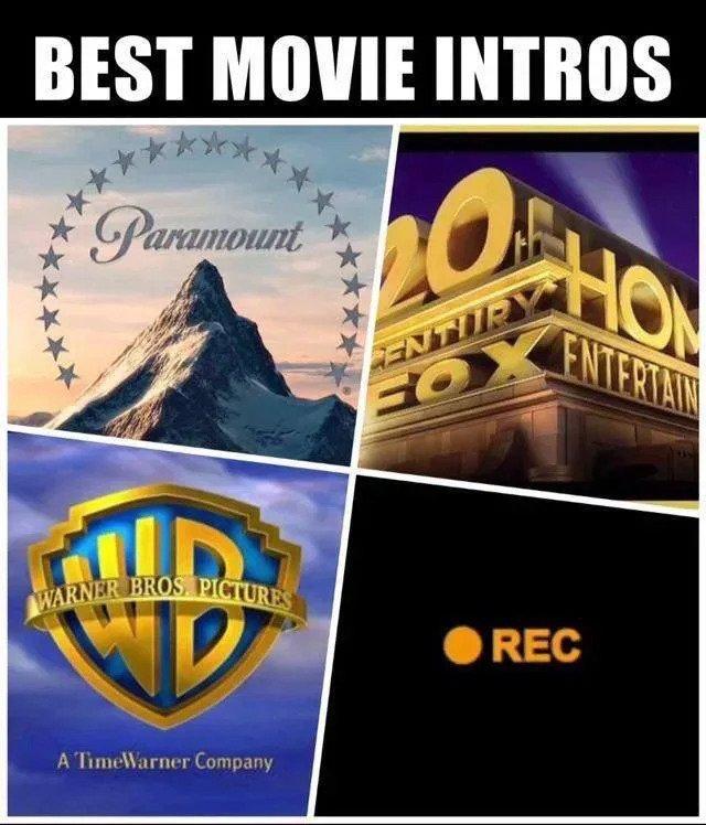 best movie intros meme