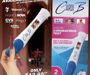 Cardi B Coronavirus Test meme