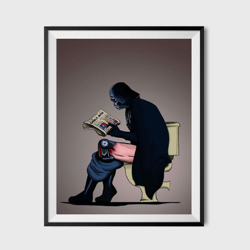 darth vader on the toilet poster