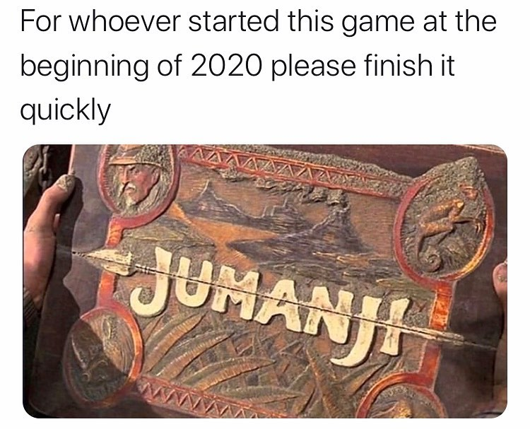 Image result for jumanji corona meme