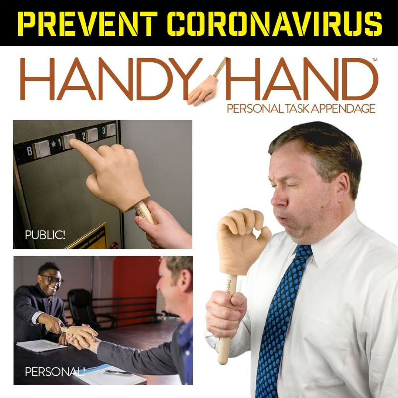 handy hand funny corona virus