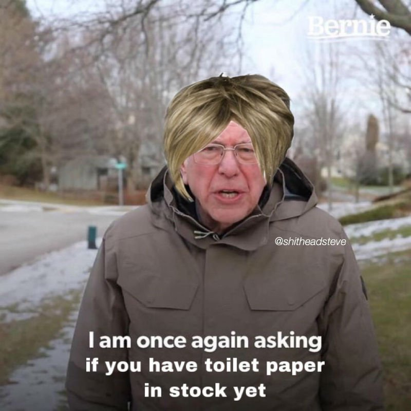 i am once again asking if you have toilet paper in stock yet