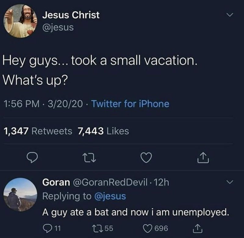 jesus hey guys took a small vacation whats up