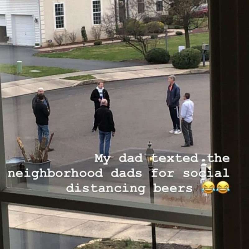My Dad Texted The Neighborhood Dads For Social Distancing