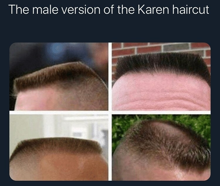 the male version of the karen haircut
