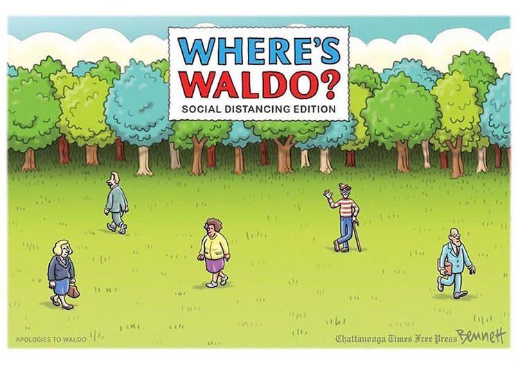 wheres waldo social distancing edition