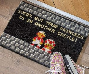 Sorry But Your Princess Is In Another Castle Doormat – Your Princess isn't here.  Just ask the doormat. Every fan of the classic game about the world's most famous plumber