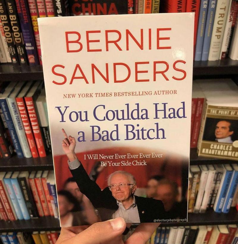 bernie sanders you coulda had a bad bitch book
