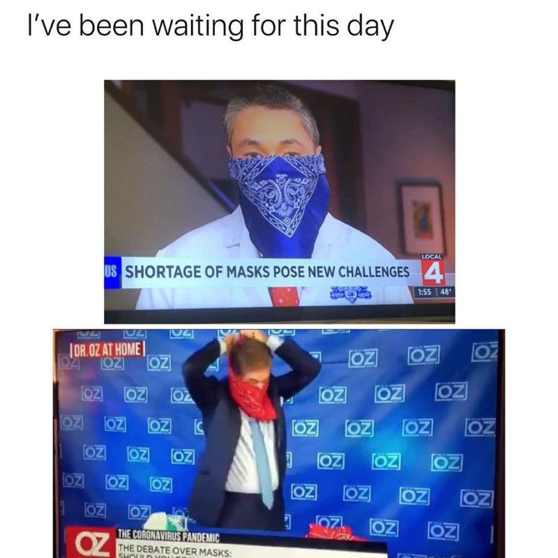 bloods vs crips coronavirus face mask meme