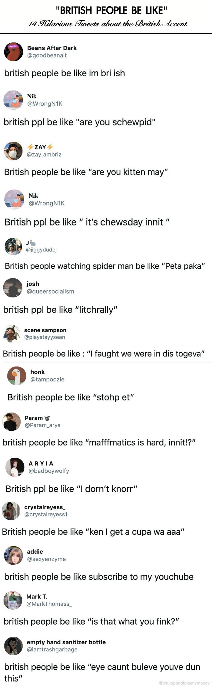 british people be like accents