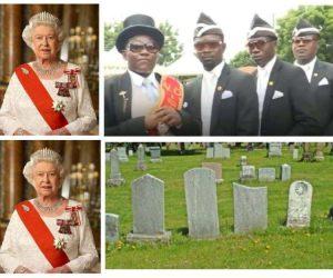 Coffin Dance Guys Vs The Queen Meme