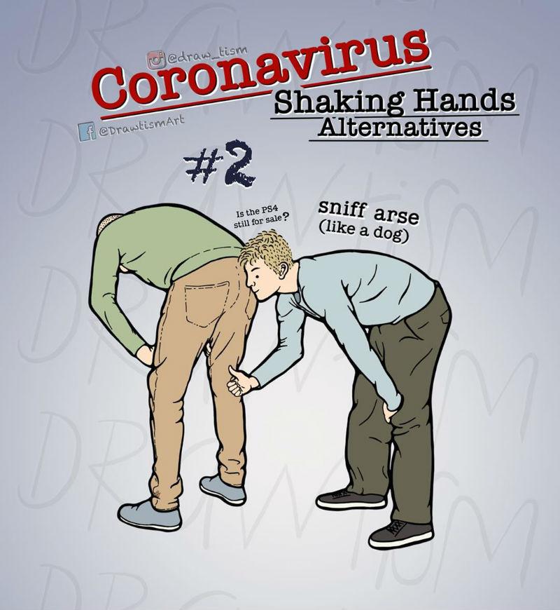 coronavirus shaking hands alternatives
