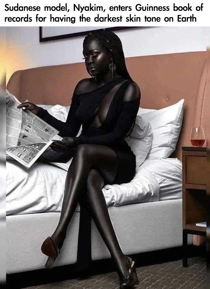 darkest skin tone on earth model