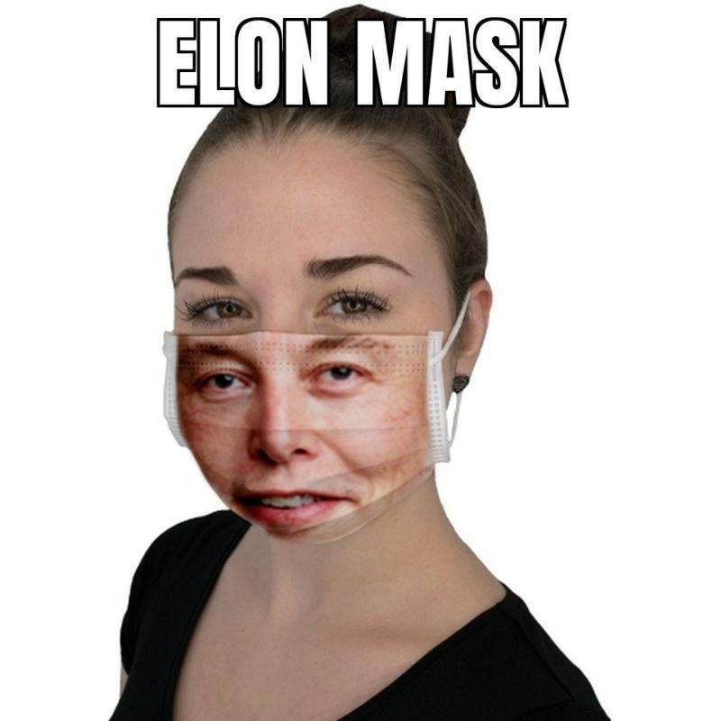 elon mask elon musk face mask