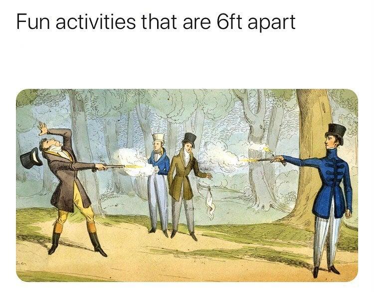 fun activities that are 6ft apart meme