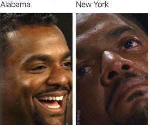 Getting 1200 In Alabama Vs New York – Stimulus Check Meme