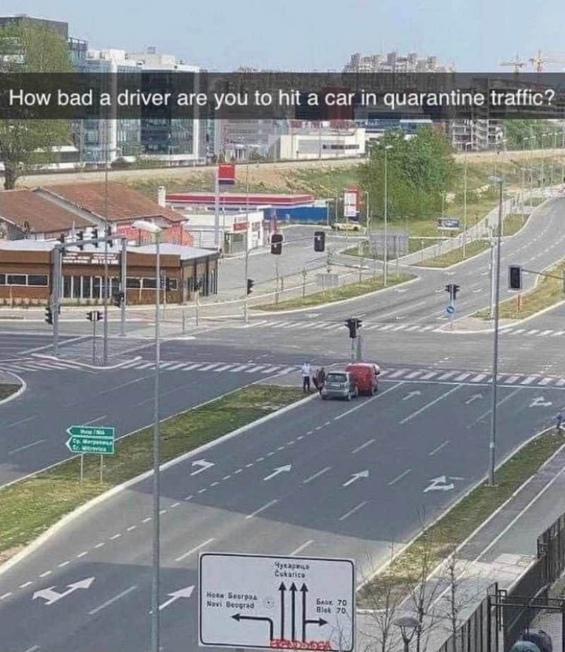 quarantine traffic meme