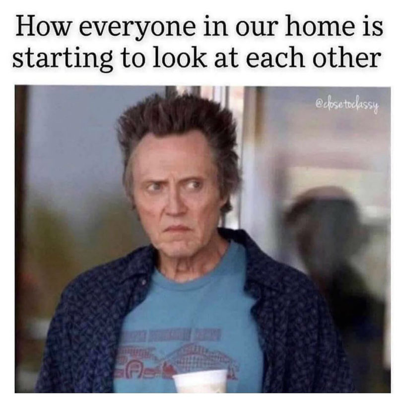 how everyone in our home is starting to look at each other