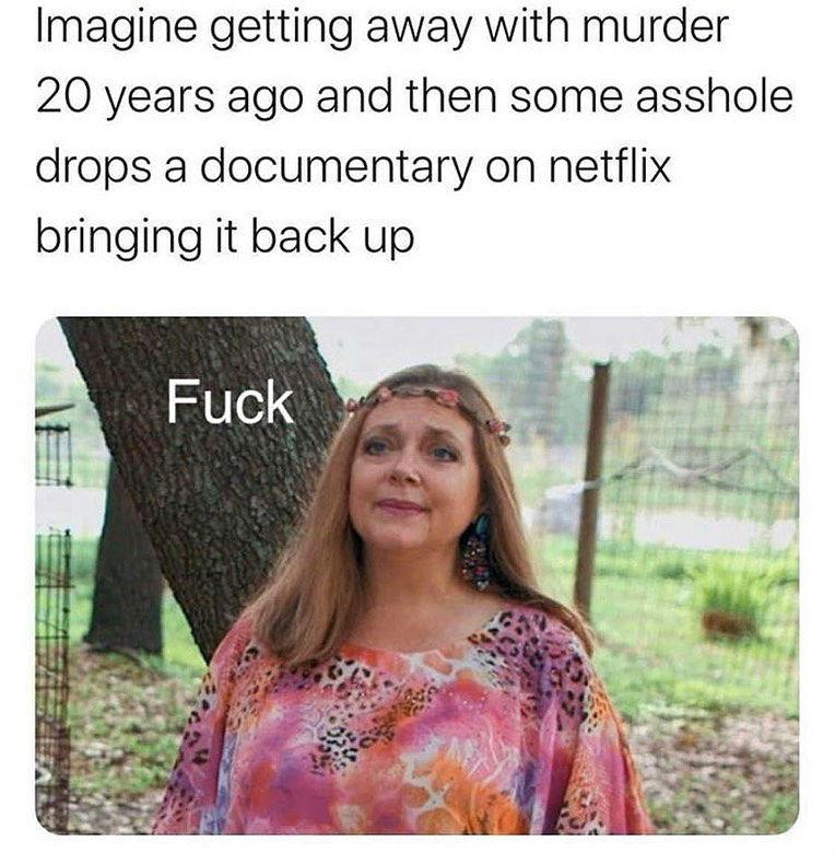 imagine getting away with murder carole baskin meme