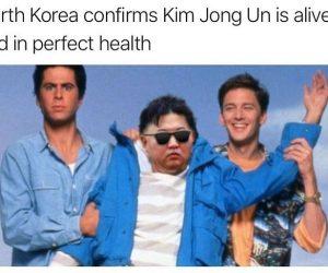 Kim Jong Un Weekend at Bernies meme