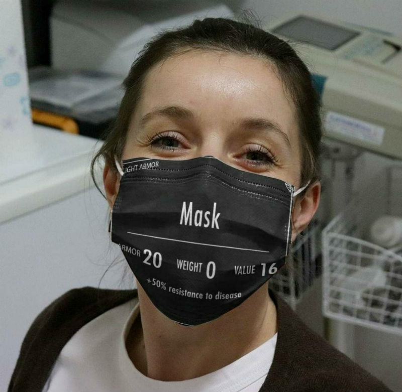 light armor +50% increase resistance to disease face mask