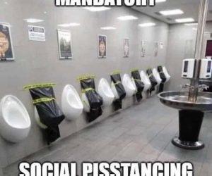 Mandatory Social Pisstancing meme