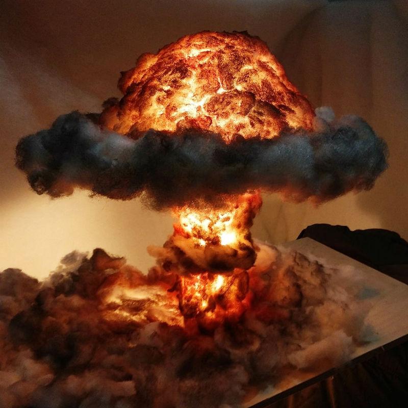 nuclear explosion mushroom cloud lamp