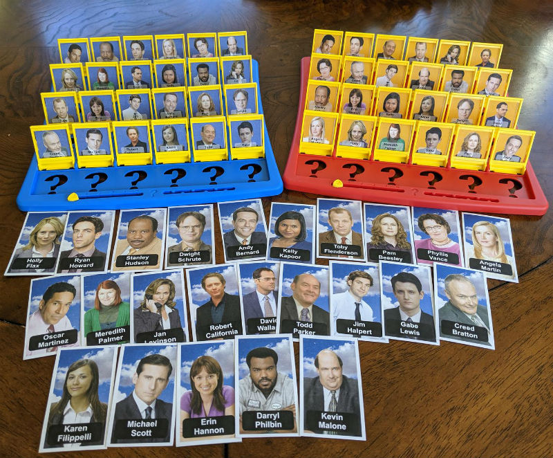 printable the office guess who